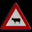 Verkeersbord België A29 - Doortocht van groot wild.