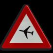 Verkeersbord België A35 - Overtocht van vliegtuigen