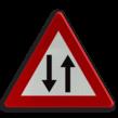 Verkeersbord België A39 - Verkeer toegelaten in twee richtingen