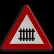 Verkeersbord België A41 - Overweg met slagbomen.