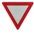 Verkeersbord België B01 - Voorrang verlenen.