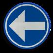 Verkeersbord België D01a - Verplichting de door de pijl aangeduide richting te volgen