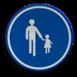 Verkeersbord België D11 - Verplichte weg voor voetgangers