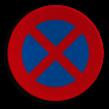 Verkeersbord België E03 - Stilstaan en parkeren verboden