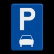 Verkeersbord België E09b - Parkeren uitsluitend voor motorfietsen, personenauto's, auto's voor dubbelgebruik en minibussen.