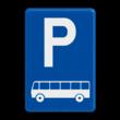 Verkeersbord België E09d - Parkeren uitsluitend voor autocars.