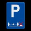 Verkeersbord België E09g - Verplicht parkeren op de rijbaan