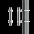 Lichtmastadapter Ø76x300mm parallel aan lichtmast