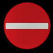 Verkeersbord België C01 - Verboden richting voor ieder bestuurder.