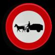 Verkeersbord België C13 - Verboden toegang voor bestuurders van gespannen.