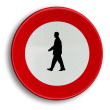 Verkeersbord België C19 - Verboden toegang voor voetgangers
