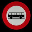 Verkeersbord België C22 - Verboden toegang voor autocars
