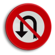 Verkeersbord België C33 - Verbod aan het volgend kruispunt af te slaan in de richting door de pijl aangegeven.
