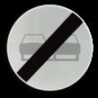 Verkeersbord België C37 - Einde verbod opgelegd door het verkeersbord C35.