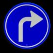 Verkeersbord RVV D05r - Verplichte rijrichting rechtsaf