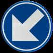 Verkeersbord België D01f - Verplicht links aanhouden