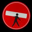 Verkeersbord aan het werk