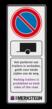 Verkeersbord 400x1000mm Parkeerverbord voor trailers + logo