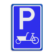Verkeersbord RVV E08 bakfiets