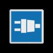 Scheepvaartbord BPR E.13.1 - walstroom -