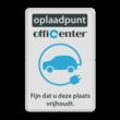 Parkeerbord reflecterend - Oplaadpunt met logo en eigen tekst
