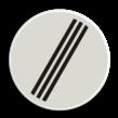 Verkeersbord RVV F08 - Einde alle verboden