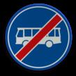 Verkeersbord RVV F14 - Einde rijbaan of -strook bussen