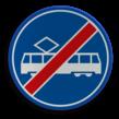 Verkeersbord RVV F16 - Einde rijbaan of -strook tram