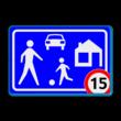 Verkeersbord RVV G05 / A1-xx - Woonerf