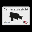 Verkeersbord cameratoezicht + huisstijl politie en/of (uw) bedrijfsnaam - BP03a