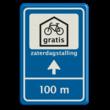 Verkeersbord 40x60 GEMU fietsenstalling + txt