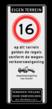 Verkeersbord 400x1000mm et-A01-odt_wsl_art461