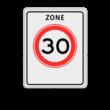 Verkeersbord RVV A01-xxx zb - Begin zone maximum snelheid