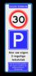 Verkeersbord  400x1000mm et-A1-E04-3txt-wsr