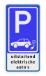 Verkeersbord elektrische auto - 3txt