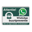 WhatsApp Attentie Buurtpreventie verkeersbord 01 - L209wa