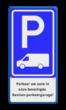Verkeersbord RVV E08p - Busje + tekstregels - BT19