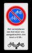 Parkeerbord RVV E03 + eigen tekst en 'op slot'