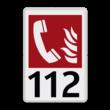 Brandweer - Brandalarm Telefoon - F006 + Eigen tekst