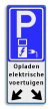 Verkeersbord parkeren elektrische voertuigen + pijlen