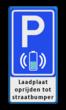 Parkeerbord RVV E08O - laadplaat + tekst - BE04
