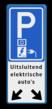 Verkeersbord parkeren elektrische voertuigen + pijlen - Greenflux