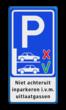 Informatiebord niet achteruit inparkeren - i.v.m. uitlaatgassen