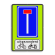 Verkeersbord RVV L08 - OB54 - Doodlopende weg met uitzondering
