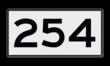 Scheepvaartbord  H.1a - KM-bord-3 kar