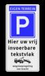 Parkeerbord 400x800mm et-E04-3txt-wsr