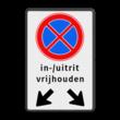 Verkeersbord RVV E02 + pictogram - Verbod stil te staan