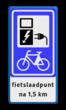 Verkeersbord RVV BW101_SP20 fiets-laadpunt - txt - BE01a