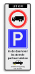 Verkeersbord ARD RVV C07 + E01 + OB206 en wielklemregeling
