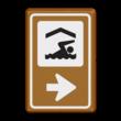 Bewegwijzering Watersport  BW101 + pijlfiguratie